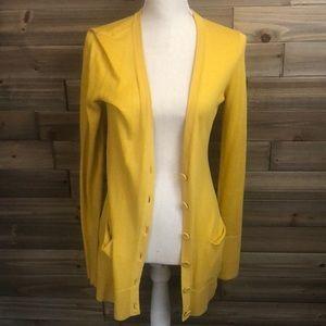 ⭐️ Loft Mustard Colored Cardigan Size S ⭐️